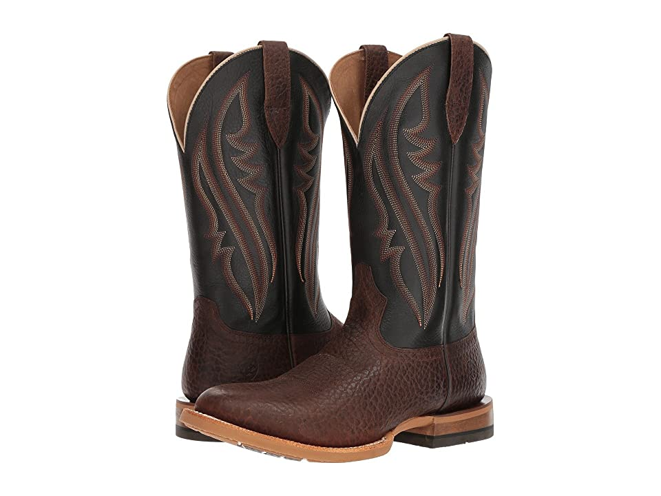 Ariat Match Up (Pebbled Brown/Deputy Black) Cowboy Boots