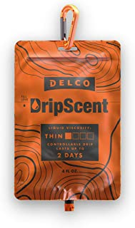 Delco Products DripScent Attractant Drip Bags, Perfect for Hunting Hog, Elk, Deer, and Other Wild Game 4 Ounce Thin