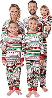 Shangood Christmas Family Matching Pajamas Set Striped Xmas Pjs Clothes,Holiday Tops and Pants Sleepwear for dad,Mom