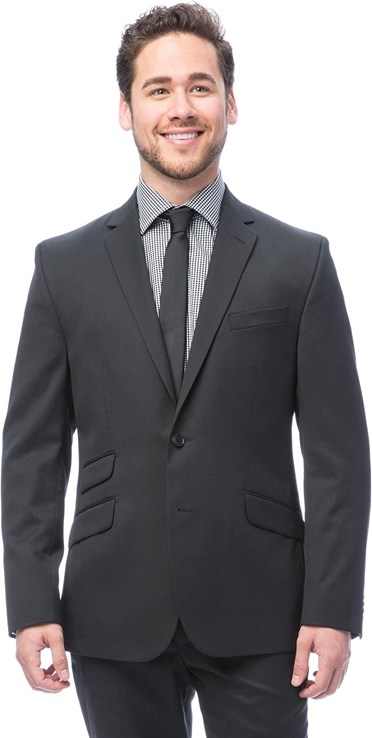 Kenneth Cole New York Men's Performance Wool Suit Separates-Custom Jacket and Pant Selection