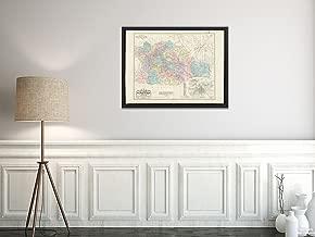 1883 Map Mexico|Oaxaca|Carta corográfica del estado de Oaxaca y de su Capital y alrededores Reli|Historic Antique Vintage Reprint|Ready to Frame