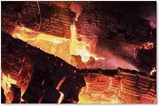 Fireplace by Kurt Shaffer, 12x19-Inch Canvas Wall Art