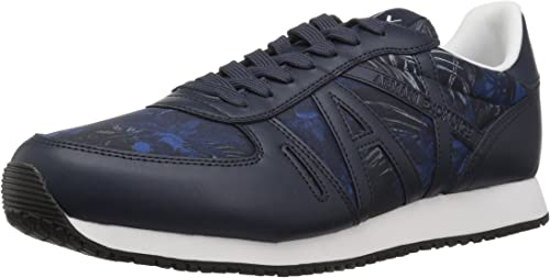 A X Armani Exchange Herren Exotic Jungle Print Retro Retro Retro Running Fashion Turnschuhe Turnschuh  in stadion promotions