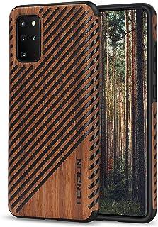 TENDLIN Galaxy 6.7 Case Wood Grain Design and Flexible TPU Silicone Hybrid Slim Case Compatible with Samsung Galaxy 6.7 (W...