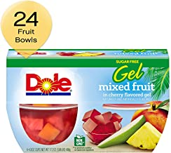 DOLE FRUIT BOWLS  Mixed Fruit in Cherry Gel, 4.3 Ounce, 4 Cups (Pack of 6)