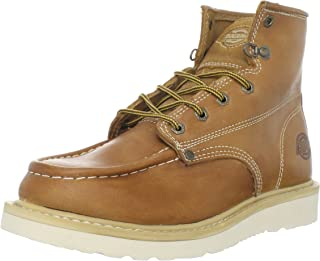 """Dickies Mens Trader 6"""" Leather-M Trader Soft Toe Brown Size:"""