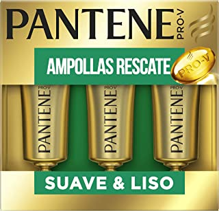 Pantene Pro-V Suave & Liso Tratamiento Intensivo En Ampollas Rescate Para Pelo Dañado 45ml