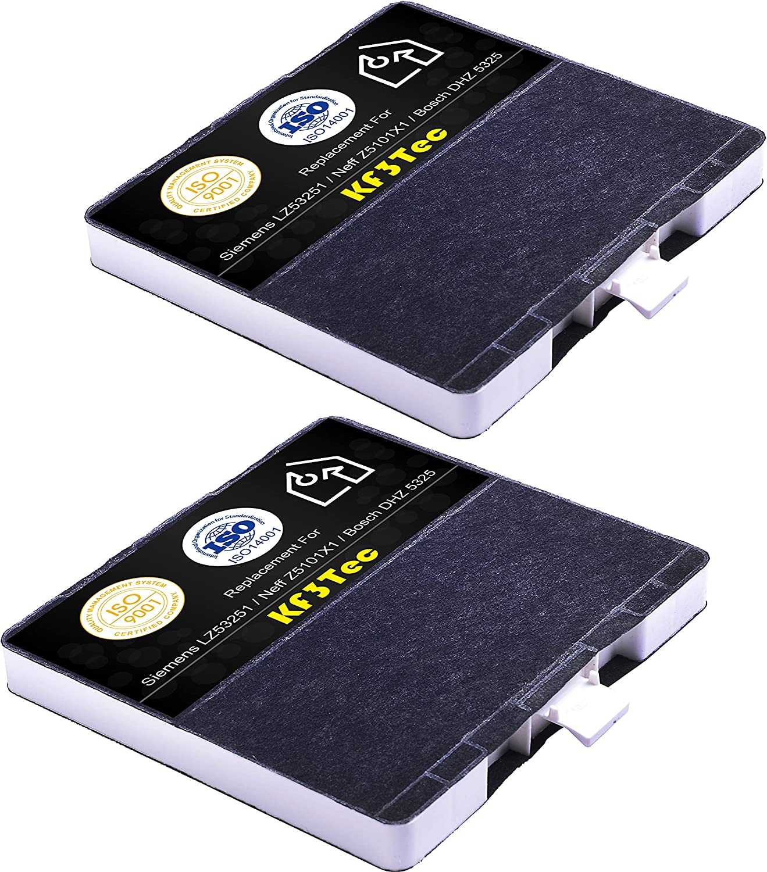 Filtro de carbón activo KF6 para campana extractora Siemens LZ53251 / Neff Z5101X1 / Bosch dhz5325 / VVZ52V40