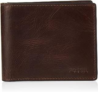 Men's Derrick Leather RFID Blocking Bifold Flip ID Wallet