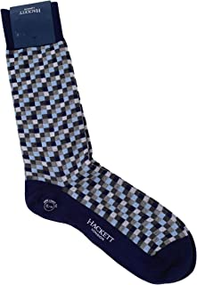 MEN'S SMALL MULTI BLOCK CHECK COTTON/NYLON DRESS SOCKS