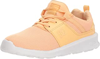 DC Heathrow Girls Skate Shoe, Peaches, 10.5 M US Little Kid