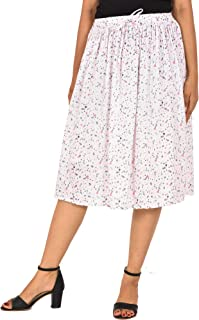 COTTON BREEZE Women's A-line Skirt White