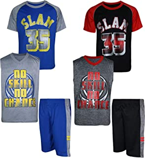 Mad Game Boys' 6-Piece Athletic Performance Short Set (2 Full Sets)