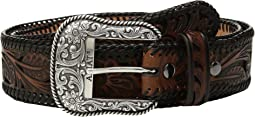 Ariat - Tapered Floral Pierced Belt