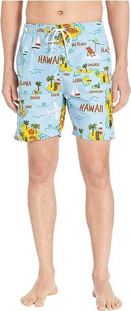 Hawaii Map Swim Shorts