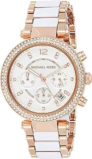 Michael Kors Womens Quartz Watch, Analog Display and Resin Strap MK5774