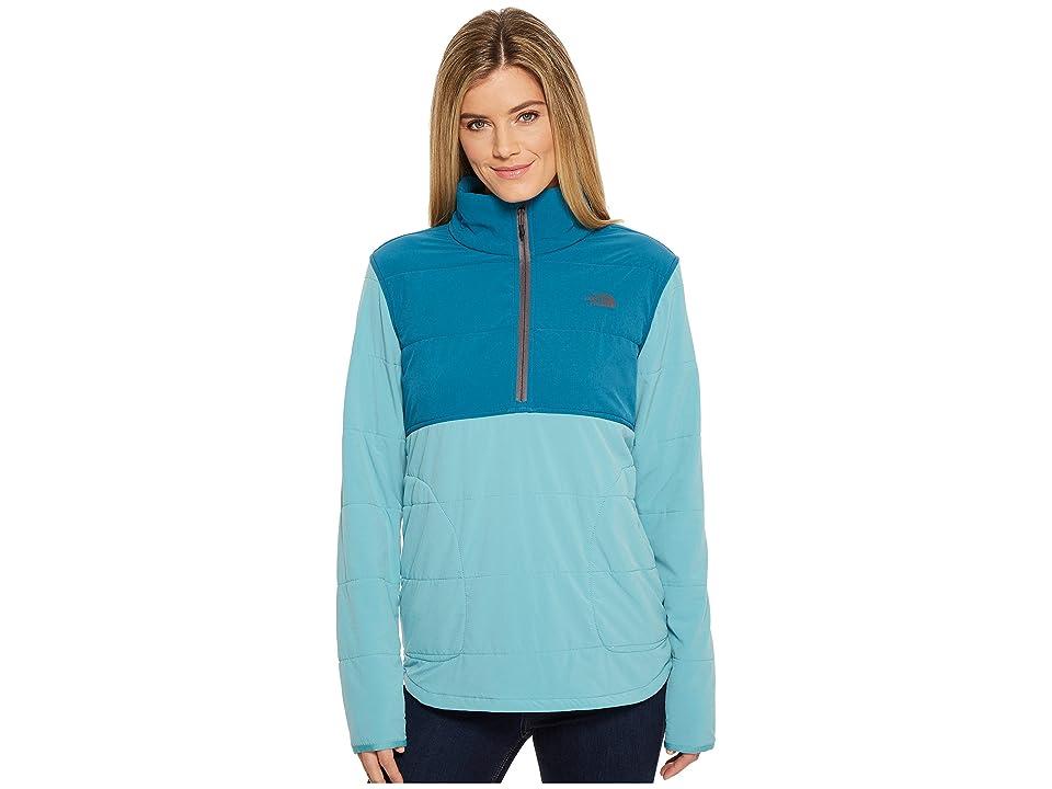 The North Face Mountain Sweatshirt 1/4 Zip (Bristol Blue/Blue Coral) Women