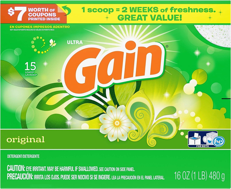 Gain with Freshlock Original Powder Laundry Detergent 1 15 5 ☆ popular Popular popular Loads