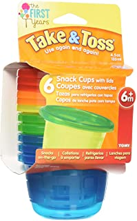 The First Years Take & Toss Snack Cups - 4.5oz, (Pack of 6)