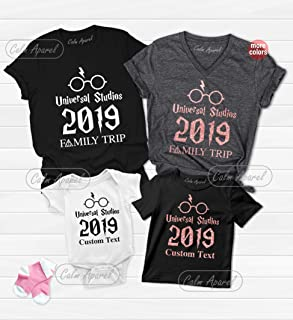 Family Matching Universal Studios Shirt, Family Vacation 2019 Tee Shirt, Daddy Mommy Children's Summer Outfits