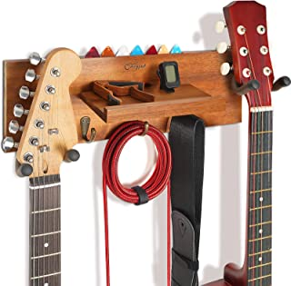 Guitar Hanger Wall Mount with Shelf and Pick Holder,...