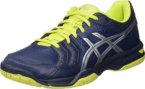 ASICS Gel-Squad, Chaussures de Handball américain Homme, MultiCouleure (Insignia bleu argent Energy vert), 40.5 EU