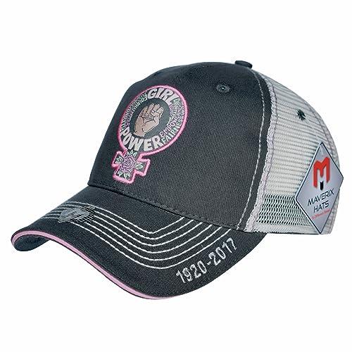 3664076110e Girl Power Trucker Hat - Snapbacks for Girls Womens Trucker Hats Snapback  Hats for Meshed Trucker