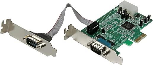 StarTech.com 2 Port Low Profile Native RS232 PCI Express Serial Card with 16550 UART - PCIe RS232 - PCI-E Serial Card (PEX2S553LP)