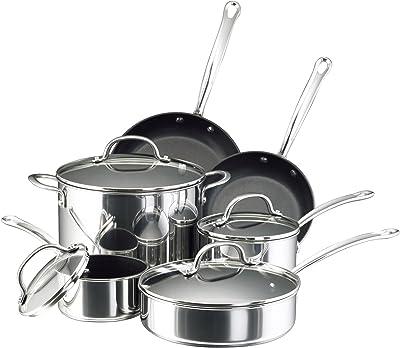 Farberware Millennium Stainless Steel Nonstick Cookware Set - non toxic stainless steel cookware