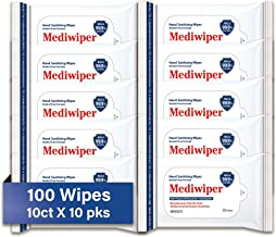 Refreshing Wet Wipes Travel Size Alcohol-Free Wipe Sanitizes/Cleans/Deodorizes Bulk Wipes (100 Wipes, 10 x 10pks)