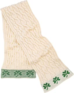 SAOL - Irish Cable Knit - 100% Merino Wool Shamrock Scarf for Men's