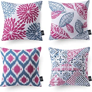 Best Phantoscope Set of 4 New Living Series Decorative Blue and Purple Throw Pillow Case Cushion Cover 18 x 18 inches 45 x 45 cm Reviews