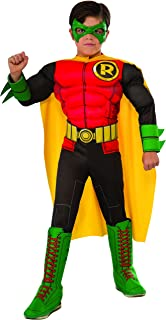 DC Superheroes Deluxe Robin Costume, Child's Large