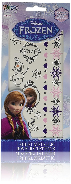 Disney Frozen Princess Over item handling ☆ Anna Beauty products Metallic Tattoo Jewelry temporary Ki