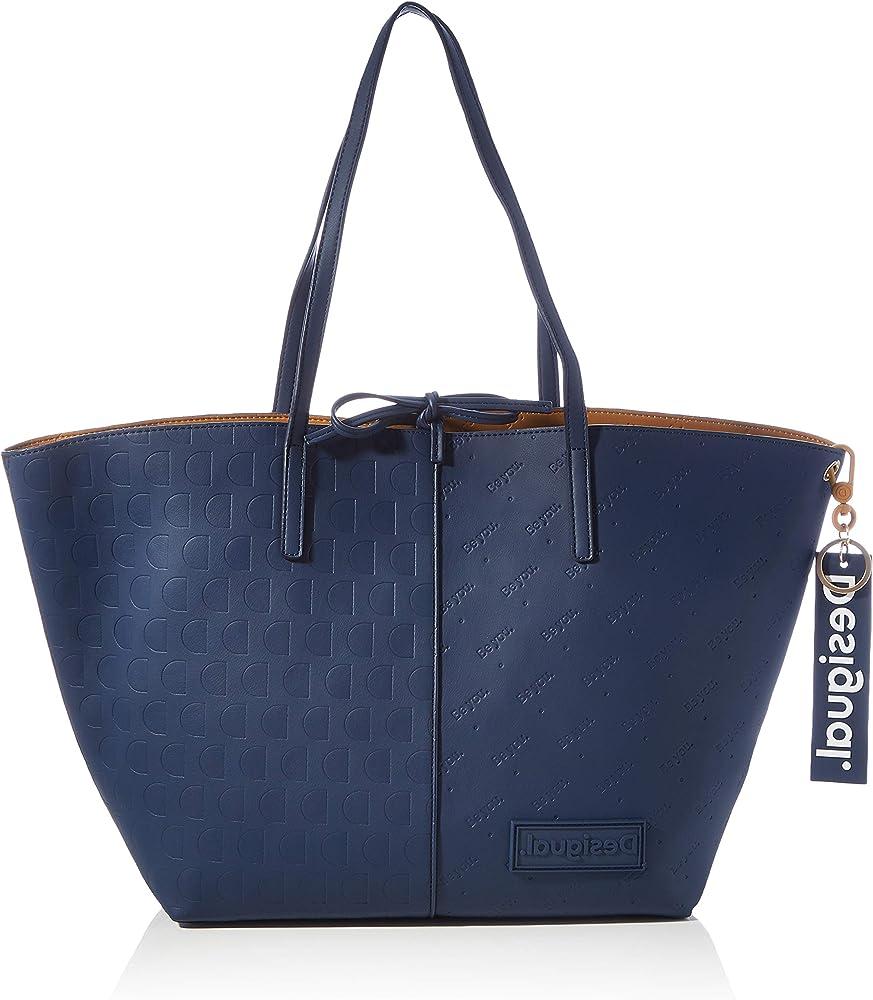 Desigual borsa shoppering da donna a spalla in similpelle 20WAXP37
