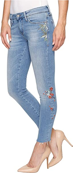 Adriana Ankle Mid-Rise Skinny in Light Embroidery Vintage