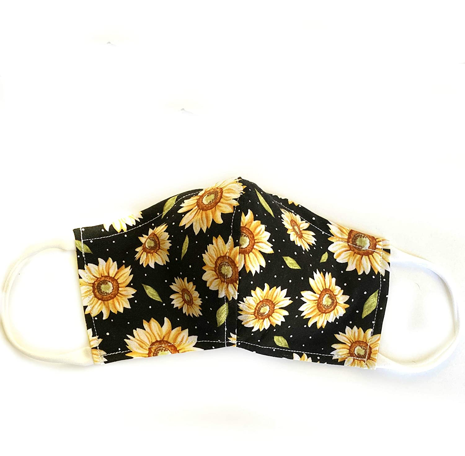 Sunflowers contoured reversible double layer wa cloth Outstanding Weekly update face mask