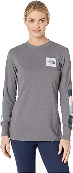 5d5b9d158200 The north face long sleeve traverse shirt mountain moss heather ...