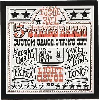 Ernie Ball 5-string Banjo Light Stainless Steel Loop End Set.009 - .020w