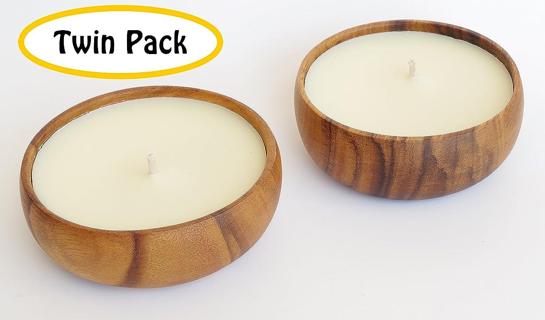 製造分注する機構ハワイアンCandle & Bath?–?Gardenia Blossom香りつきSoy Candle、ツインパック、ハンド、再利用可能なボウル