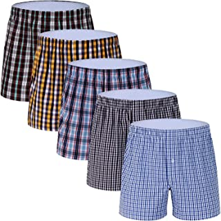 Men's Colorful Woven Boxer Underwear 100% Cotton Premium Quality Shorts