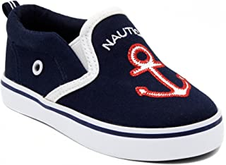 Nautica Akeley Toddler Canvas Sneaker Slip-On Casual Shoes (Toddler/Little Kid)