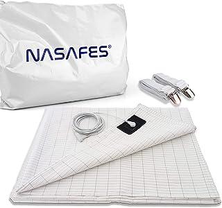 nasafes Earthing Half Sheet, Grounding Sheets for Earthing, Earthing Mat, Grounding Kit | Including Grounding Cord + 2 Sus...