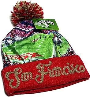 San Francisco New Leader Stadium Beanie Toque Pom Red Gold Pom Cuffed Era Knit Hat Cap