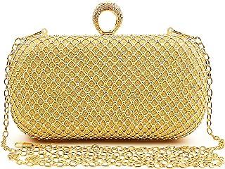 Gold Clutch Purse,Evening Bag Clutch Purses Rhinestone Clutch for Women Fancy,Evening Party Wedding Shoulder Handbags