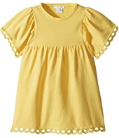 Milano Short Sleeve Dress with Percale Details (Toddler/Little Kids)