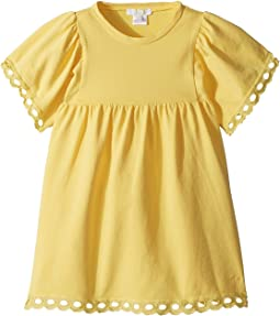 Chloe Kids - Milano Short Sleeve Dress with Percale Details (Toddler/Little Kids)