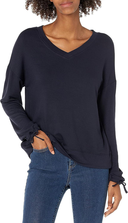 Amazon Brand - Daily Ritual Women's Supersoft Terry Tie Sleeve V-Neck Sweatshirt
