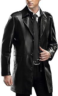 PENER الرجال التلبيب الأعمال جلدية معطف جلد الخروف معطف السيارة