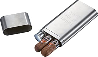 Personalized Cigar Case and Flask Combo with Free Engraving. Stainless Steel